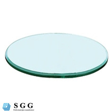 High quality oval tempered glass table top