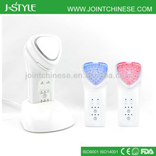 Top quality Rechargeable 3 level intensity IPL LED light photon galvanic microcurrent facial beauty hot and cold steamer
