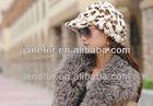 Fashion Ladies Rabbit Fur Hat/Cap Winter Warmer Fashion Leopard-printed Color