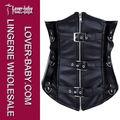 wild black steampunk sous le buste corset lingerie en cuir