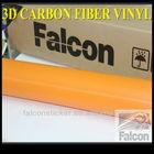 3d golden carbon fiber vinyl sticker car wrap