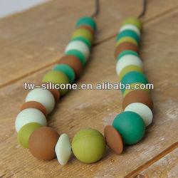silicone teething pendant necklace