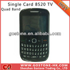 Chinese Curve 8520 Cheap Mobile Phone Single Card TV Quad Band 2.2'' QWERTY Keyboard