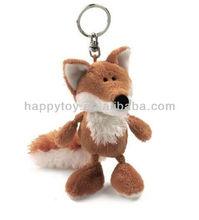 HI 2013 EN71 fox Animal plush keychain