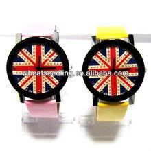 2013 fashion UK flag design wrist watch for lover JW-26