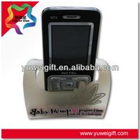 White Smart Desk Stand PVC Mobile Phone Holder
