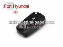 modified auto flip remoe key shell 3 button for Hyundai