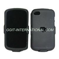Black 2 in 1 Combo Case For Blackberry Q10 Belt Clip Holster Case Cover Kick Stand