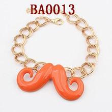 fashion metal mustache bracelet moustache 2013