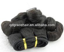 Popular balling curl burmese hair machine weft