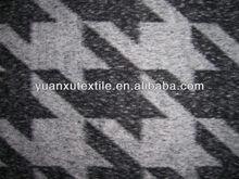 Houndstooth woolen fabric