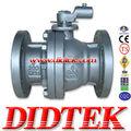 didtek 2pc que fluye de la brida de la válvula de bola