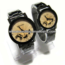best trendy promotional gift watches,cheap watch set for couple JW-39