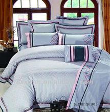 blue colour jacquard bed sheet sets /duvet cover/bedding sets