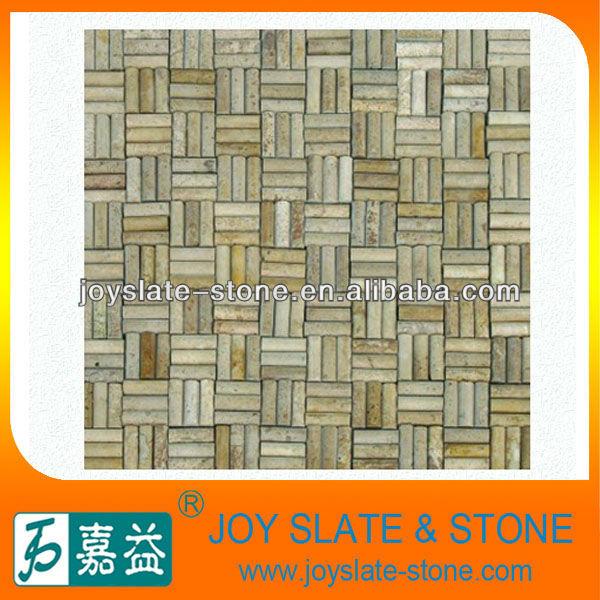 装飾的な台所の大理石のモザイクタイルの美術