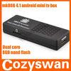 RK3066 dual core smart TV BOX android 4.1 mk808 google tv stick android 4.2 mk808 4.1 android mini tv box