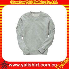 custom heather grey plain french terry pullover wholesale crewneck mens sweatshirt