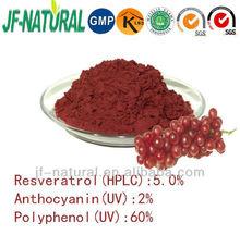 Resveratrol 5% polyphenol 60% anthocyanidins 2% GMP manufacturer