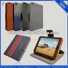rotating pocket book leather cover for ipad mini