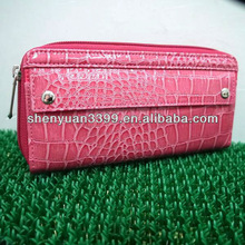 2013 hot sale and long luxury ladies girls purse wallet purse with rivet