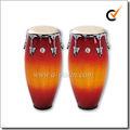 Vaca pele verdadeira cabeças de madeira atabaque de percussão latina( acoc110rb)