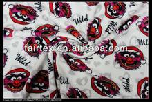 Good quality animal print polar fleece printed fabric