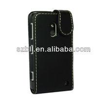 Leather flip case for nokia lumia 620