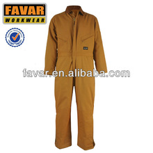 Mens 210T taslon nylon quilt with 100%polyester winter coverall