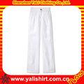 custom nova branco calças de linho tamanho plus
