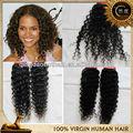 De alta quality100% virgen humanos jerry curl tejido peinados