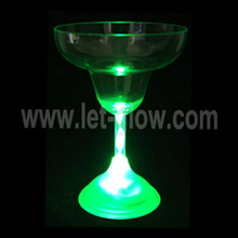 LED Light-up Cup, transparent glass with led light, flashing led barware