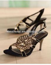 2012 Women fashion high heel black dimond shoes
