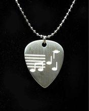 Music Notes Design Guitar Pick Necklace
