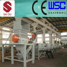 300-2000kg/hour waste pp pe film woven bags milk bottles plastic recycling machine