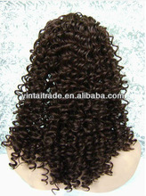 2.5&quot; LACE FRONT MEDIUM LENGTH SPANISH CURL MED HEAT RESISTANTHAIR WIG - L9
