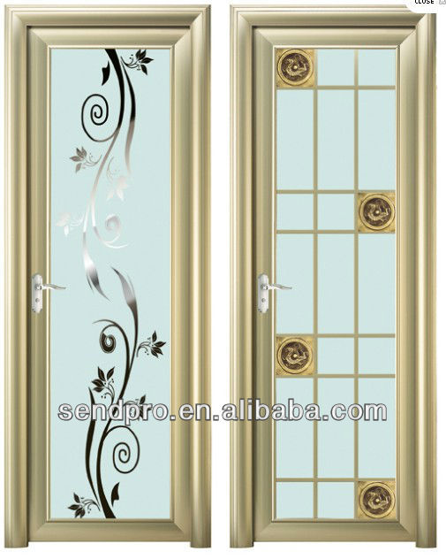 Modern bathroom door design with aluminum glass door frame, View ...