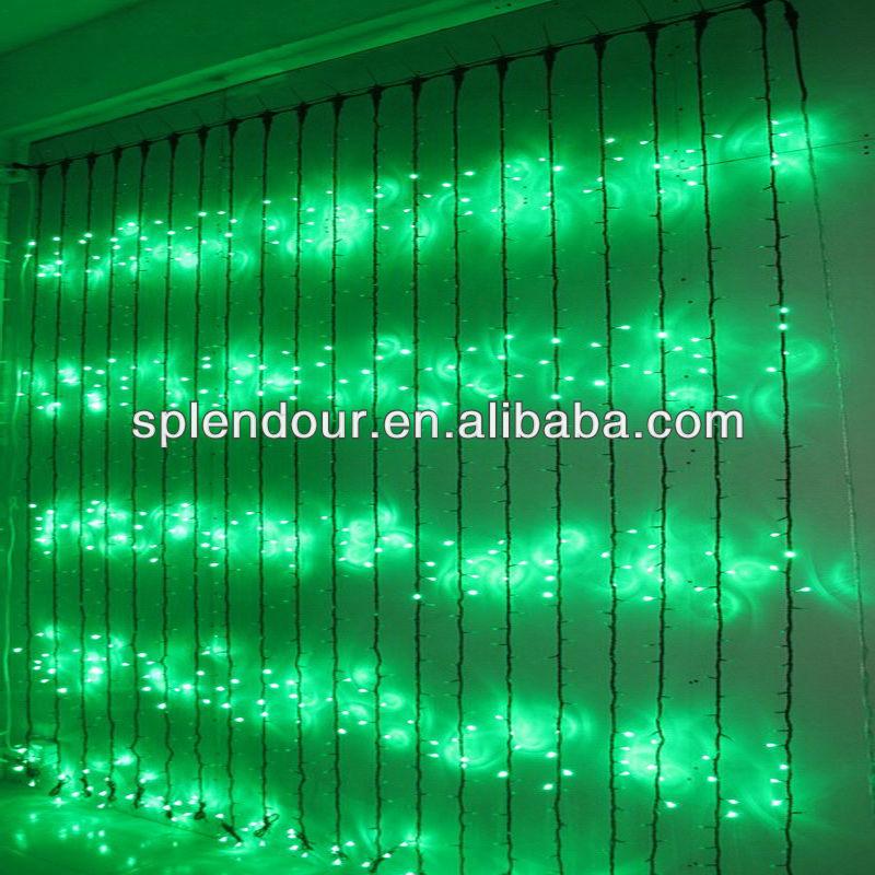 Green LED waterfall light/LED curtain light/LED Christmas light