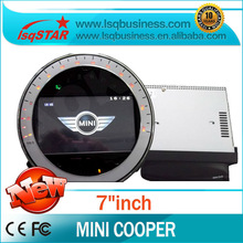 LSQSTAR Dual dvd player for Mini cooper with GPS/Bluetooth/Radio/DVD/IPOD/SD/USB/Steering wheel control Hot selling!