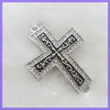 Hotsale Alloy Cross Jewelry Connector #19002
