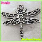 Fashion antique dragonfly pewter charms # 14236