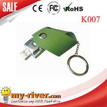 Leather usb storage,key ring flash disk,gift usb