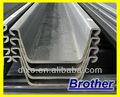 Usados japoneses laminado en caliente de chapa de acero piles/utiliza pilotes sábanas