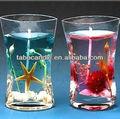 Geléia arte artesanato vela intransparent suporte de vidro