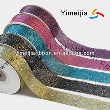 metallic ribbon yarn,bling bright ployester ribbon