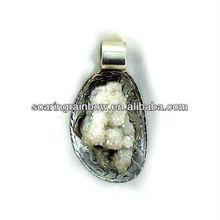 laser etched crystal pendant