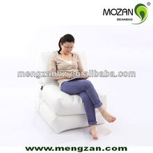 white Bean Bag Sofa , foldable white long beach beanbag, outdoor relax bed bean bags