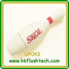 White plastic usb flash drive