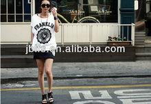 2013 moda pamuk twinset kadınların gündelik Yaz uygun spor giyim takımları kısa etek