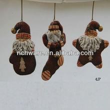 Hanging Santa / Star / Mitt / Sock Ornaments for Christmas Decoration
