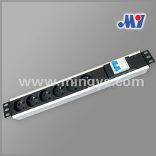 French PDU socket with double air switch